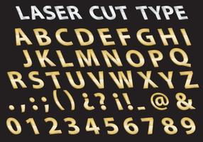 Type de coupe au laser en métal vecteur