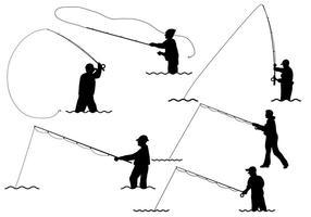 Vecteur de pêche à la mouche