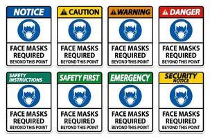 masques faciaux requis vecteur
