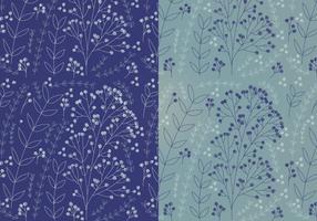 Vecteur boho motifs floraux