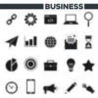 Ensemble d'icônes 20 affaires vecteur