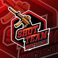 badge logo esport shot gaming vecteur