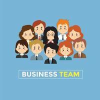ensemble d'avatars de gens d'affaires vecteur