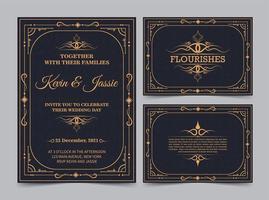 carte d'invitation de style vintage