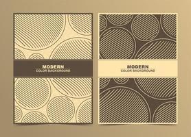 ensemble de couverture minimale de cercle brun abstrait