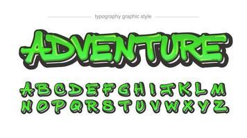 effet de texte graffiti vert brillant brillant vecteur