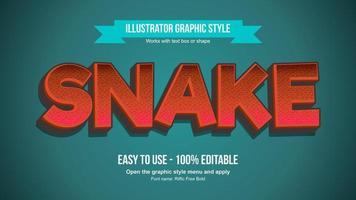 Effet de texte majuscule dessin animé gras rouge 3D vecteur