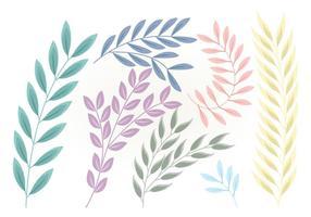 Branches florales de vecteur