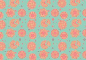 Mooncake pattern vector
