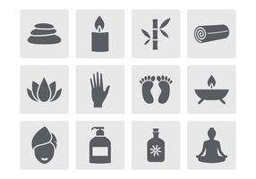Vecteur libre d'icônes de spa