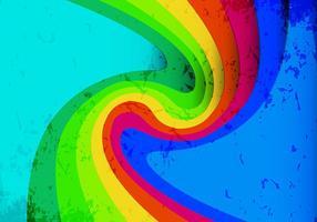 Fond de vague colorée vecteur libre