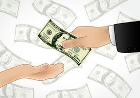 Donner de l'argent vecteur