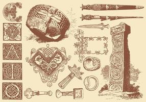 Artisanat d'art celtique vecteur