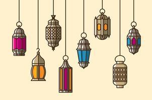Vecteur lanterne maroc