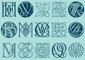 Monogrammes complexes vecteur