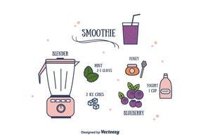 Vecteur de smoothie aux myrtilles