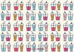 Smoothie et Milkshake Vector Background