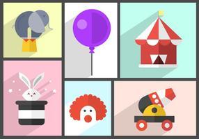 Icônes de cirque gratuites vecteur