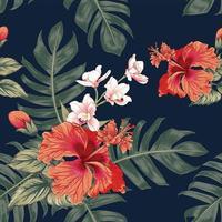 fleurs d'orchidée pastel rose vecteur