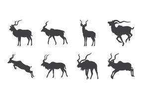 Vecteur Kudu Silhouette gratuit