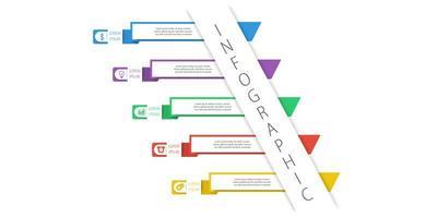 modèle d'infographie simple et clair vecteur