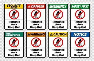 zone réglementée garder hors symbole signe vecteur