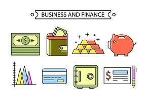 Bancaire et financier vecteur
