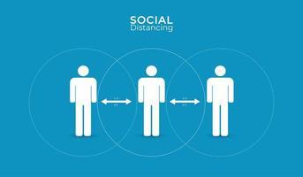 conception d'affiche simple distanciation sociale vecteur