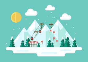 Illustration vectorielle gratuite d'hiver vecteur