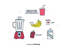Vecteur de smoothie