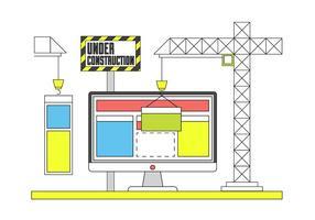 Icônes gratuites de construction de site Web vecteur