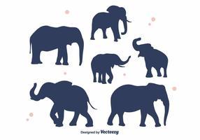Vecteur de silhouette d'éléphant