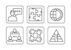 Utilisation des icônes ensemble vecteur