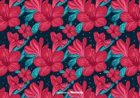Fond de fleurs rouges vecteur