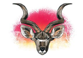 Vector décoratif de Kudu