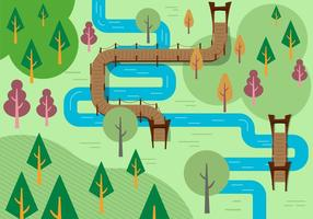 Illustration libre de fleuve sur le fleuve vecteur