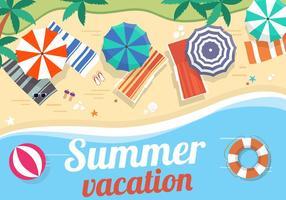 Vecteur libre paysage d'été