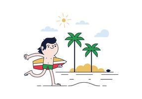Vecteur de surfeur gratuit