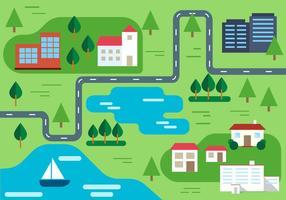 Illustration vectorielle rurale gratuite vecteur