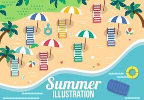Éléments vectoriels libres d'été
