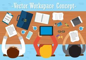 Conception de vecteur de travail d'équipe gratuit