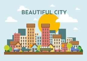 Paysage urbain vectoriel gratuit