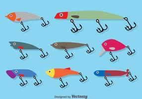 Pêche Lure Flat Vector