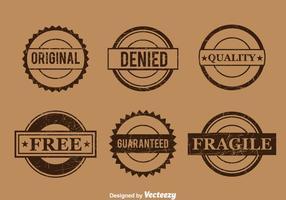 Vector commercial de timbre marron