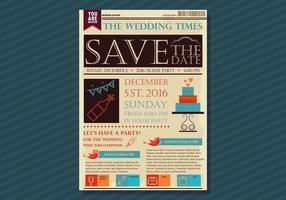 Old Newspaper Wedding Edition vecteur