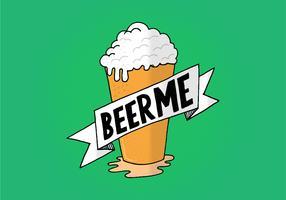 Pinte de bière et bannière vecteur