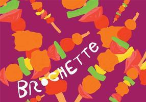 Vecteur de nourriture Brochette coloré gratuit