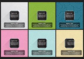 Modèles de microchip vecteur