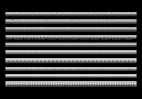 Icônes planes d'armature vecteur