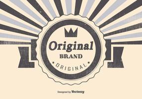 Illustration originale réelle de la marque vecteur